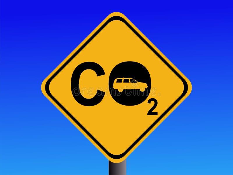 Emisiones de CO2 del automóvil stock de ilustración