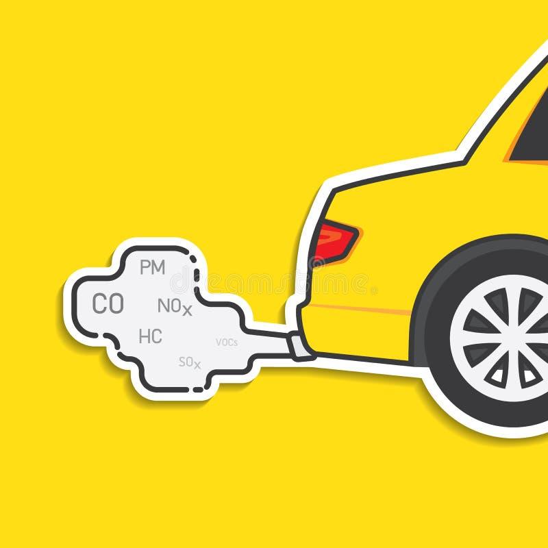 Emissão do carro ilustração royalty free