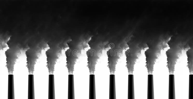 Emissões da central energética foto de stock