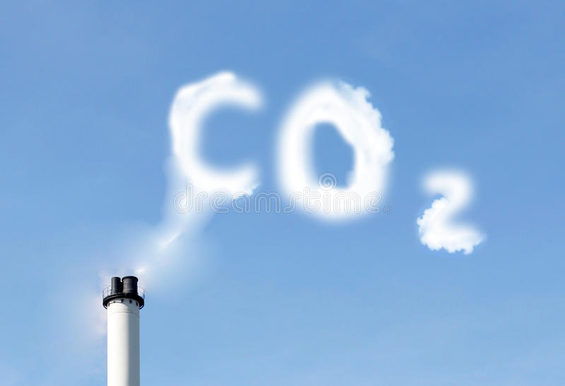 Emissões de CO2 imagens de stock