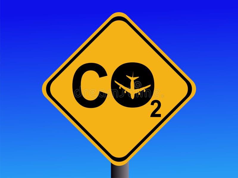 Emissões de CO2 da viagem aérea ilustração stock