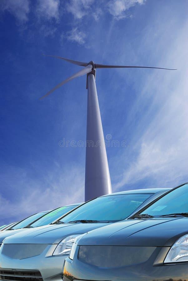 Emission und erneuerbare Energie lizenzfreie stockfotos