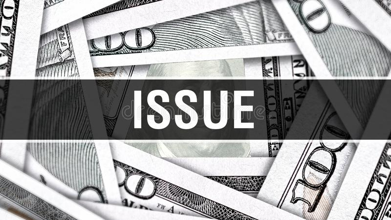 Emisyjny zbliżenia pojęcie Amerykańscy dolary Gotówkowego pieniądze, 3D rendering Zagadnienie przy Dolarowym banknotem Pieniężna  royalty ilustracja