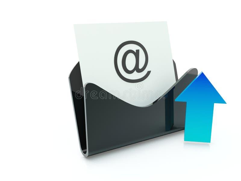 Emita o ícone do correio ilustração royalty free