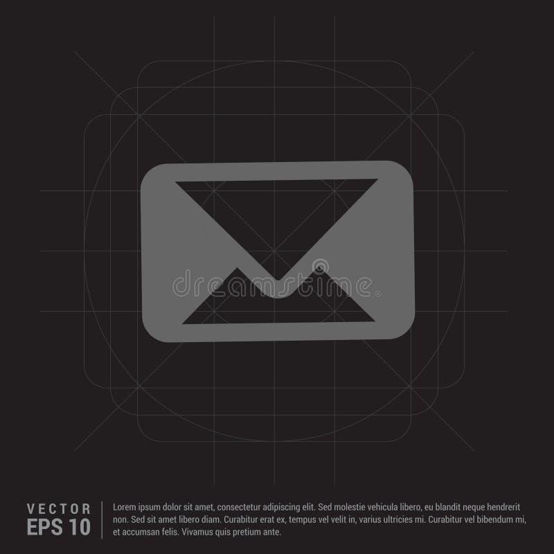 Emita o ícone do correio ilustração do vetor