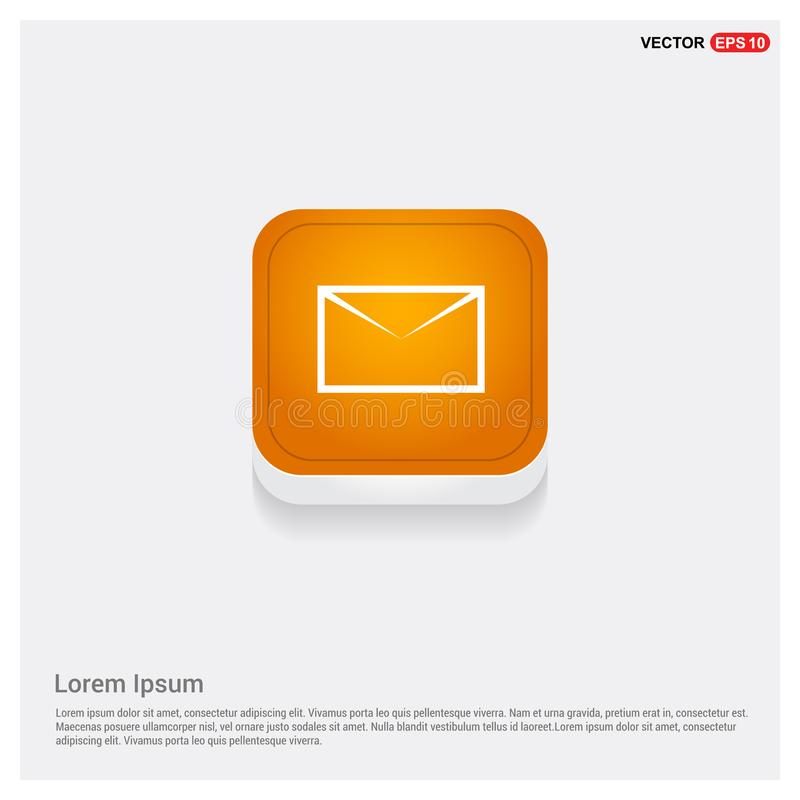 Emita o ícone do correio ilustração stock