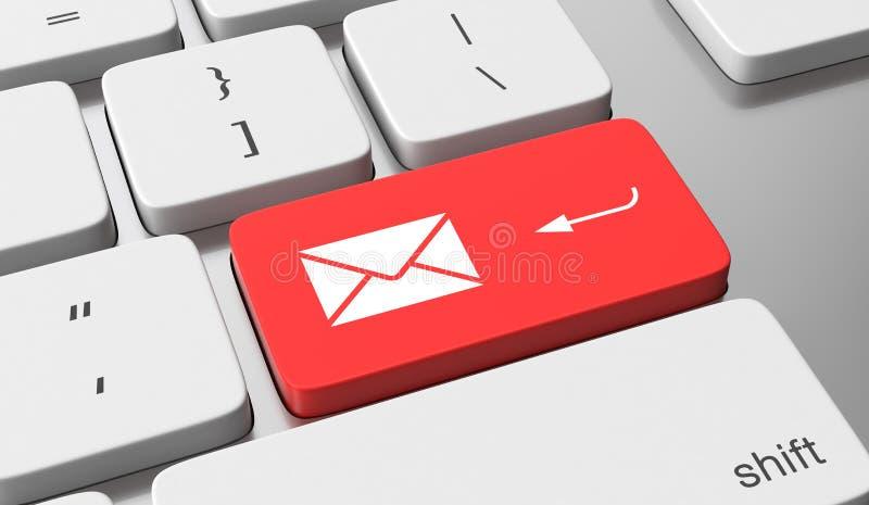 Emita o email ilustração royalty free