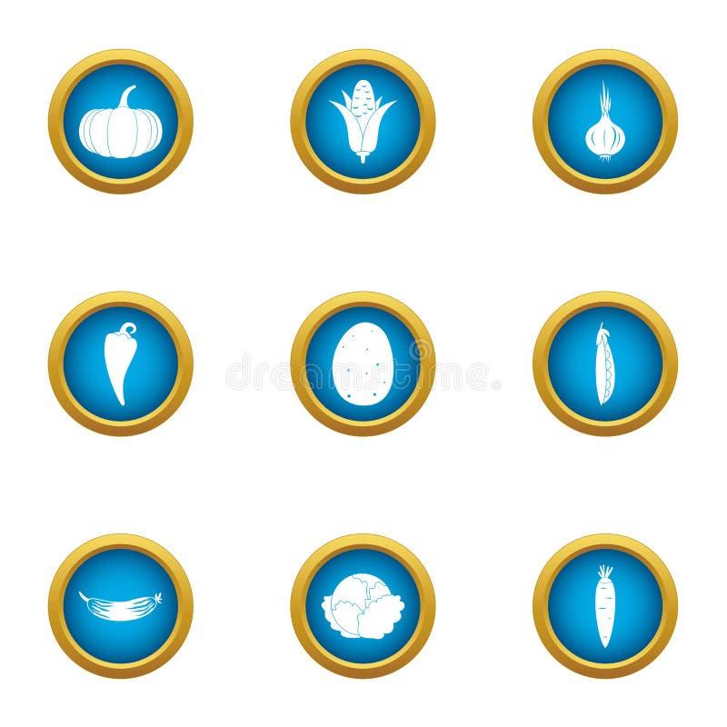Emita-se os ícones ajustados, estilo liso ilustração do vetor
