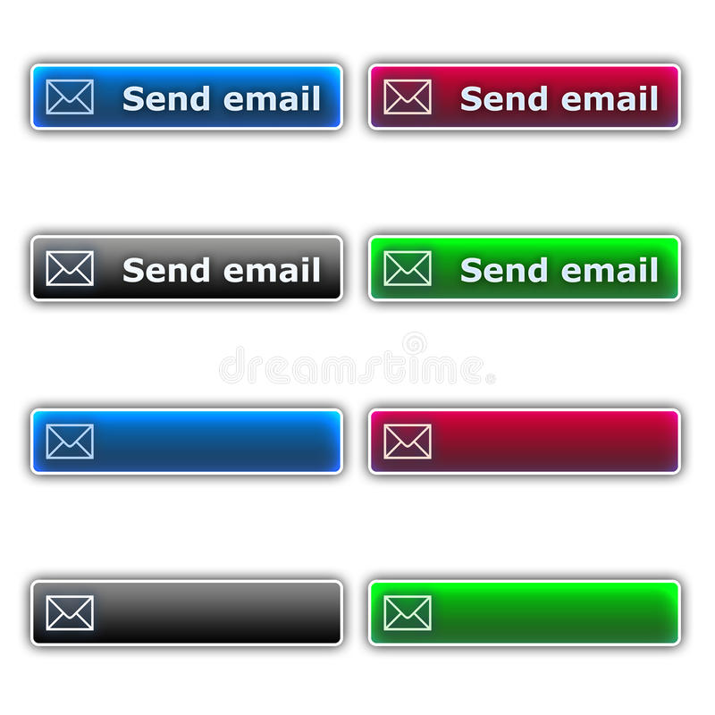 Emita teclas do email ilustração do vetor