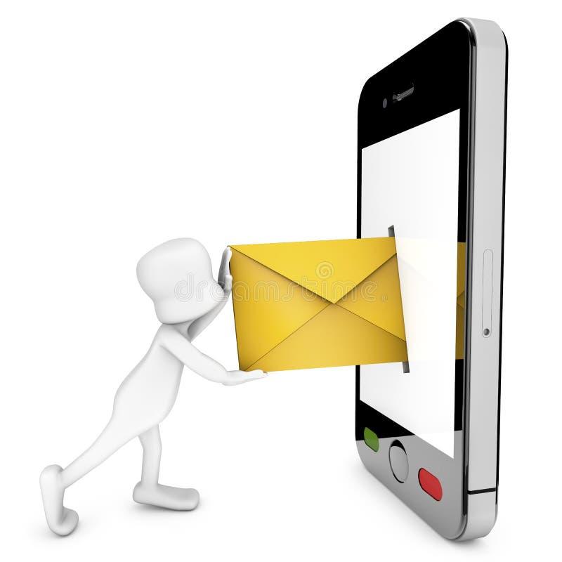 Emita um email ilustração royalty free