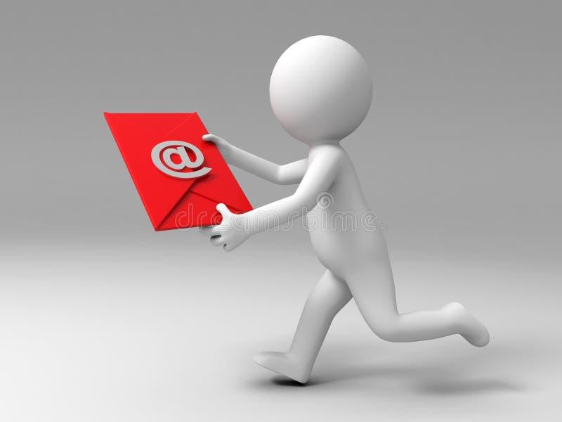 Emita um email ilustração do vetor