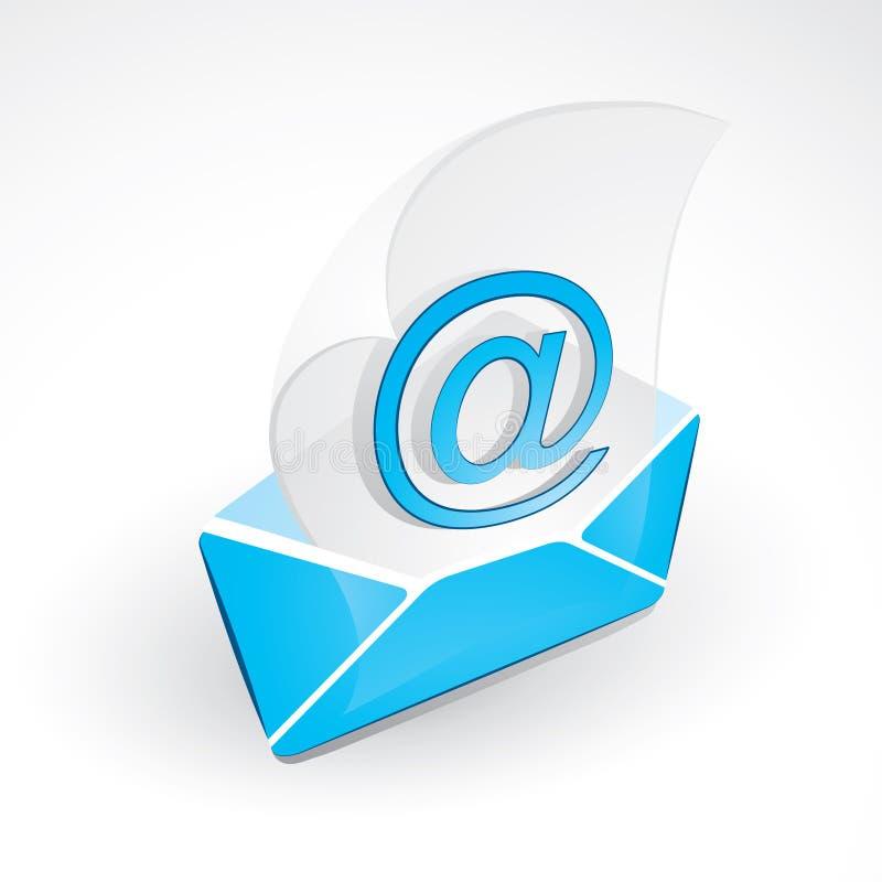 Emitindo o email ilustração royalty free