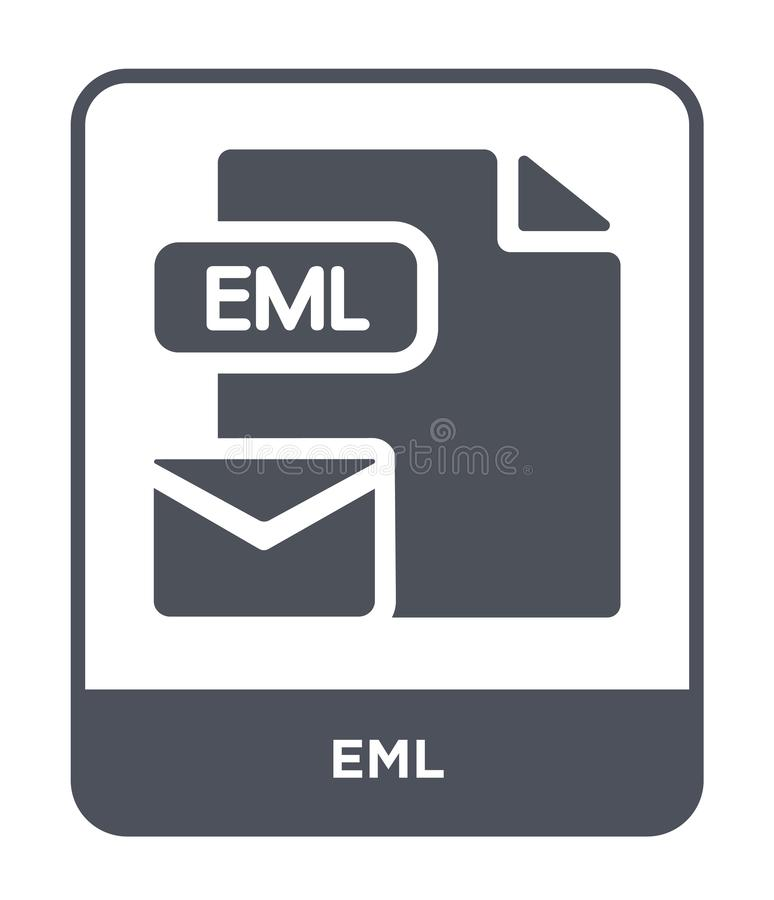 Eml icon in trendy design style. eml icon isolated on white background. eml vector icon simple and modern flat symbol for web site. Mobile, logo, app, UI vector illustration