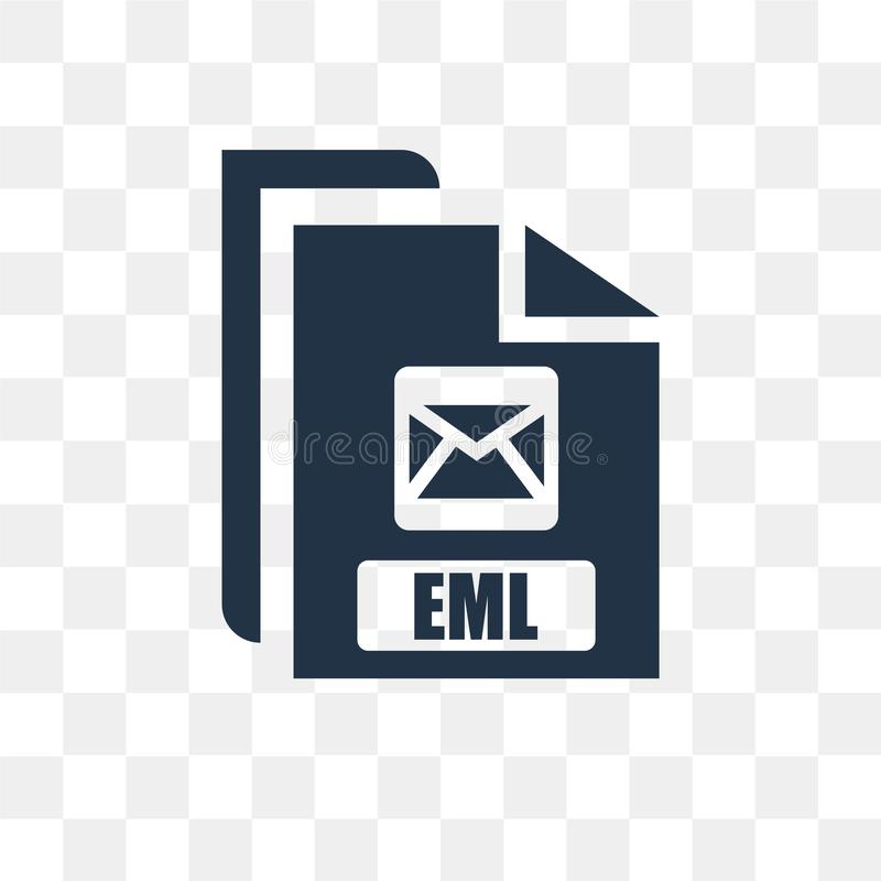 Eml vector icon isolated on transparent background, Eml transpa. Rency concept can be used web and mobile, Eml icon vector illustration