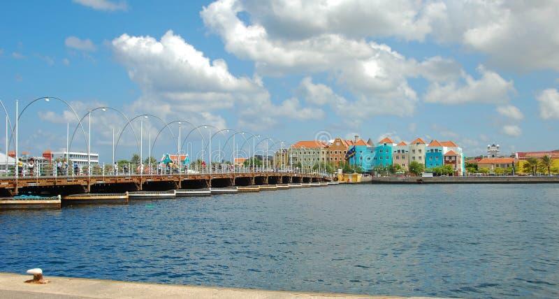 Emma Bridge Curacao stockbilder