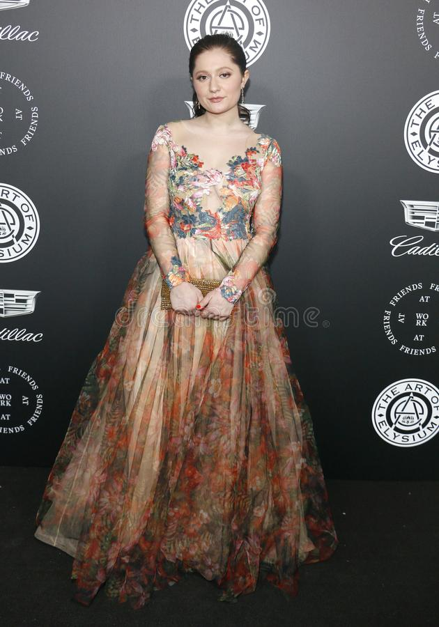Emma Kenney. At the Art Of Elysium`s 11th Annual Heaven Celebration held at the Barker Hangar in Santa Monica, USA on January 6, 2018 royalty free stock image