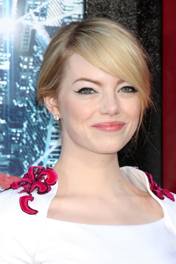 Emma Stone. LOS ANGELES - JUN 28: Emma Stone arrives at the The Amazing Spider-Man Premiere at Village Theater on June 28, 2012 in Westwood, CA royalty free stock photography