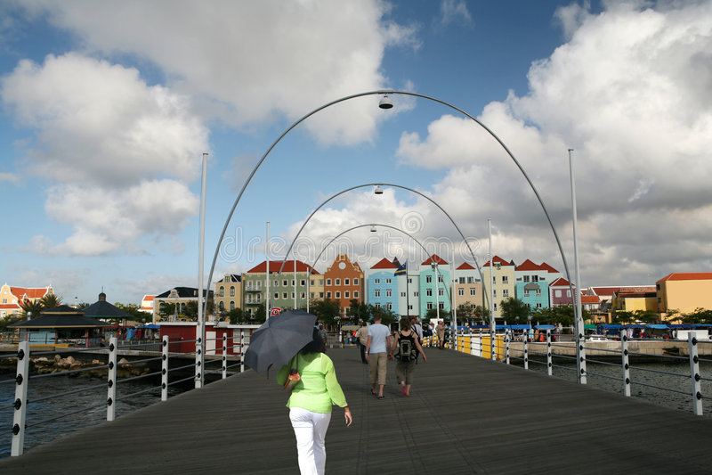 Emma swing bridge- curacao stock photos