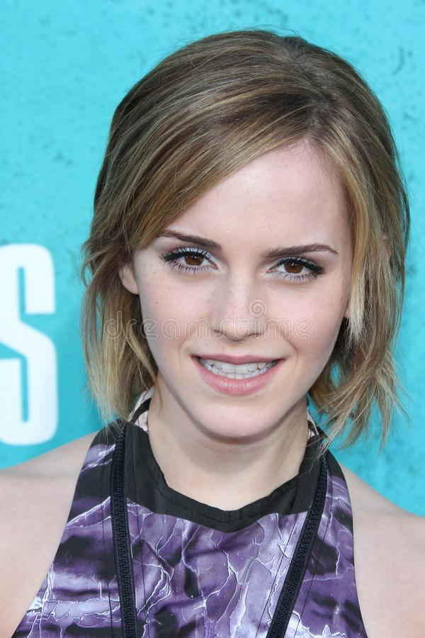 Emma Watson at the 2012 MTV Movie Awards Arrivals, Gibson Amphitheater, Universal City, CA 06-03-12 royalty free stock images
