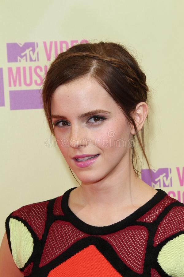 Emma Watson. At the 2012 Video Music Awards Arrivals, Staples Center, Los Angeles, CA 09-06-12 royalty free stock image