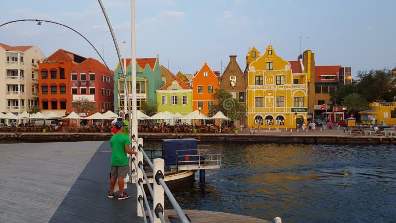 @ Emmabrug en Willemstad, Curaçao fotografía de archivo libre de regalías