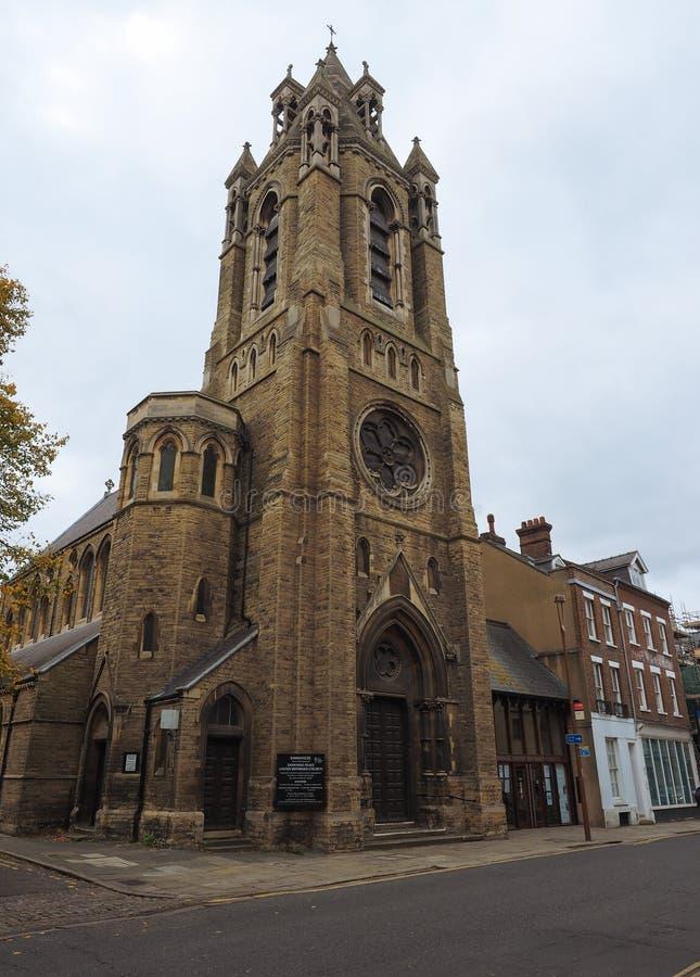 Emmanuel Church in Cambridge stock afbeeldingen