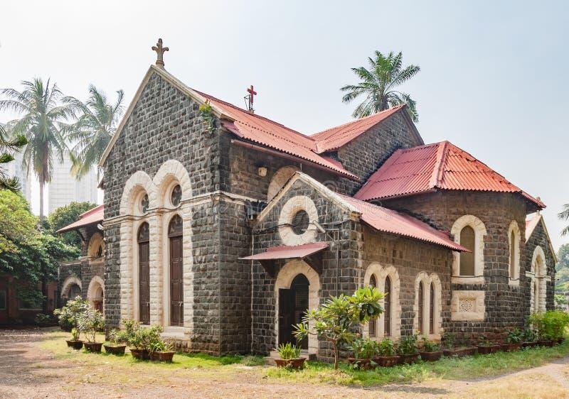 Emmanuel Church, Mumbai, construído 1869 fotografia de stock