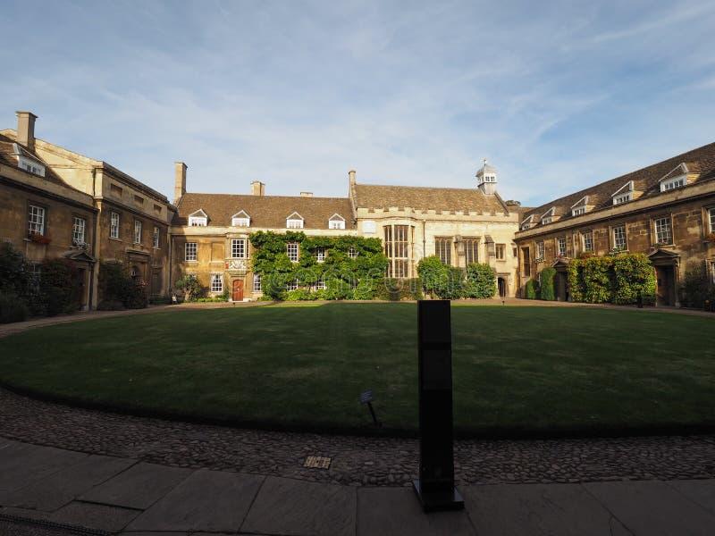 Emmanuel College in Cambridge royalty-vrije stock afbeelding