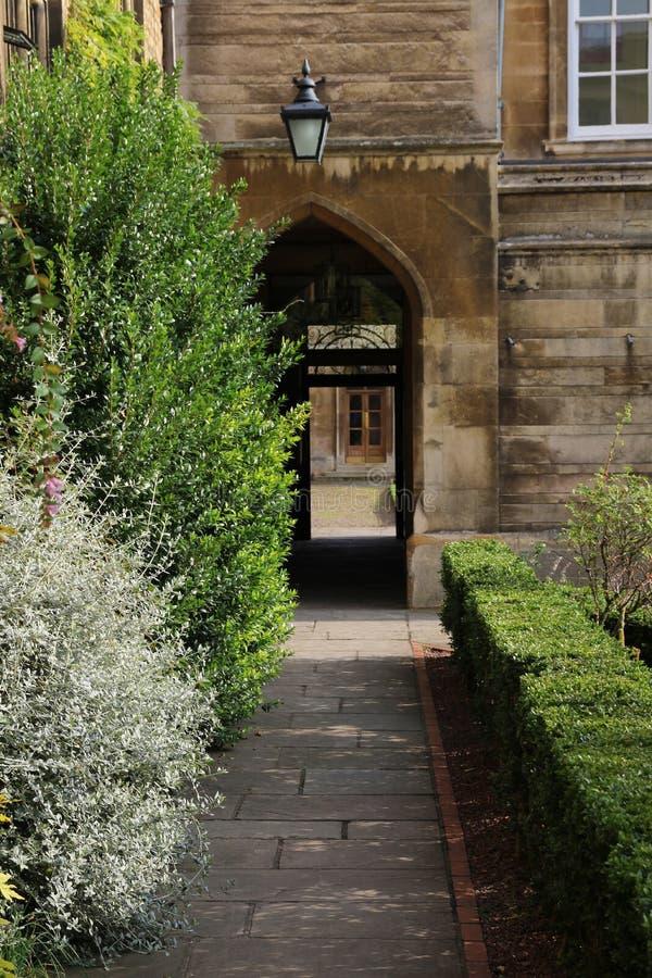 Emmanuel College, Cambridge, England stock images