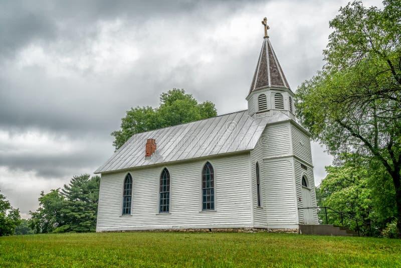 Emmanuel Lutheran Church dans le Wisconsin rural photographie stock