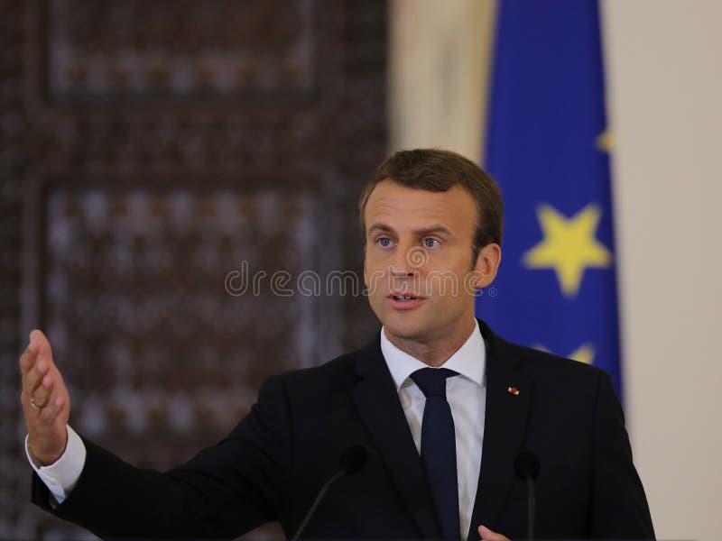Emmanuel Macron imagens de stock