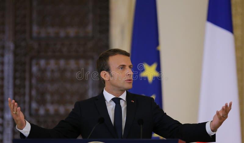 Emmanuel Macron стоковая фотография rf