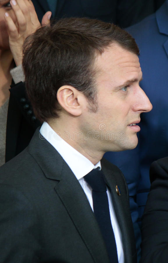 Emmanuel Macron stock photo