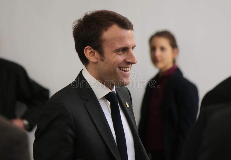 Emmanuel Macron. MARCH 31, 2015 - BERLIN: Emmanuel Macron at a meeting of the German and French government in the Chanclery in Berlin royalty free stock image