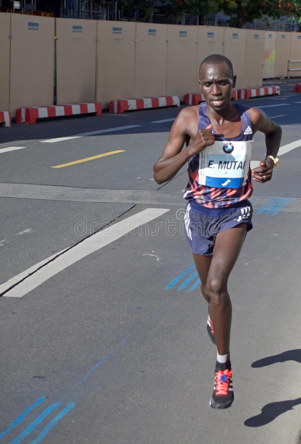 Emmanuel Mutai, Berlin Marathon 2015 stock photography