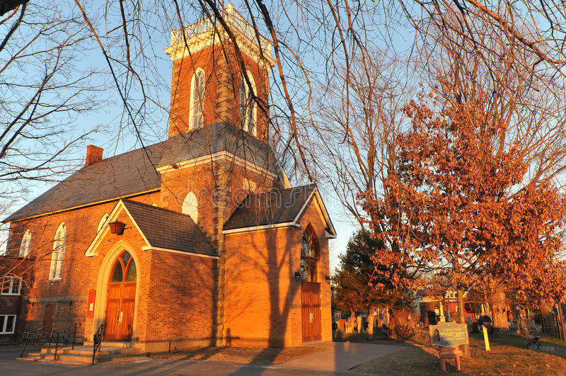 Emmanuel United church. Cowansville, Quebec, Canada royalty free stock image