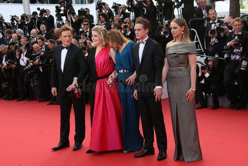 Emmanuelle Bercot, Catherine Deneuve και Benoit Magimel στοκ εικόνες