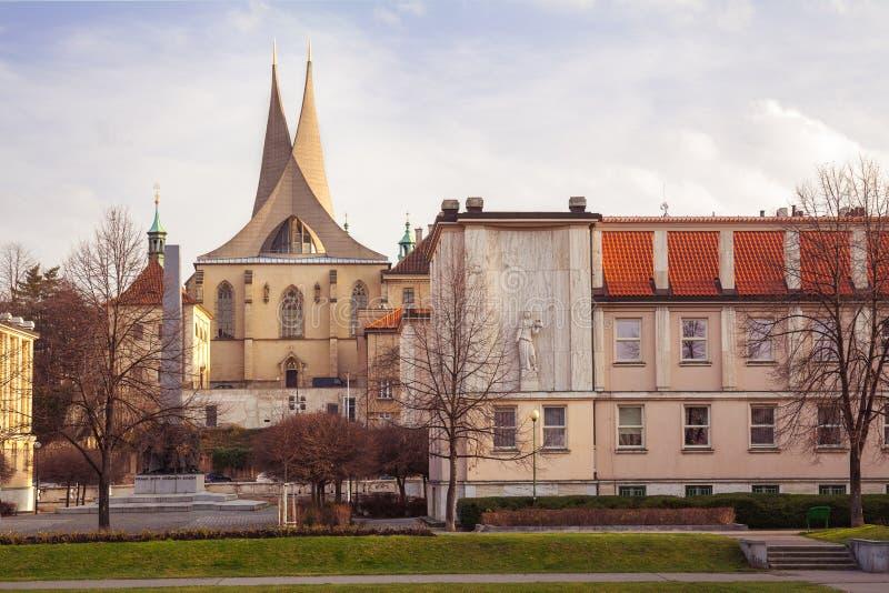 Emmaus kloster Prague, Tjeckien arkivfoto