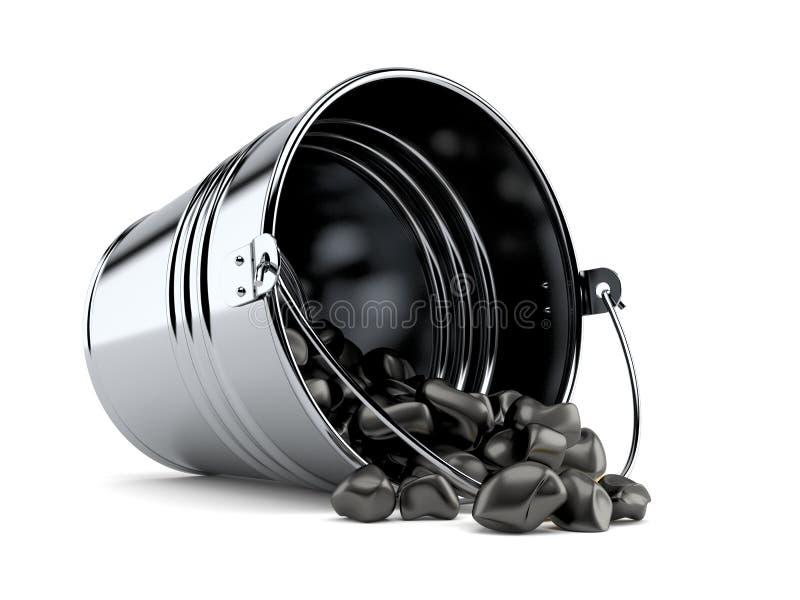 Emmer steenkool vector illustratie
