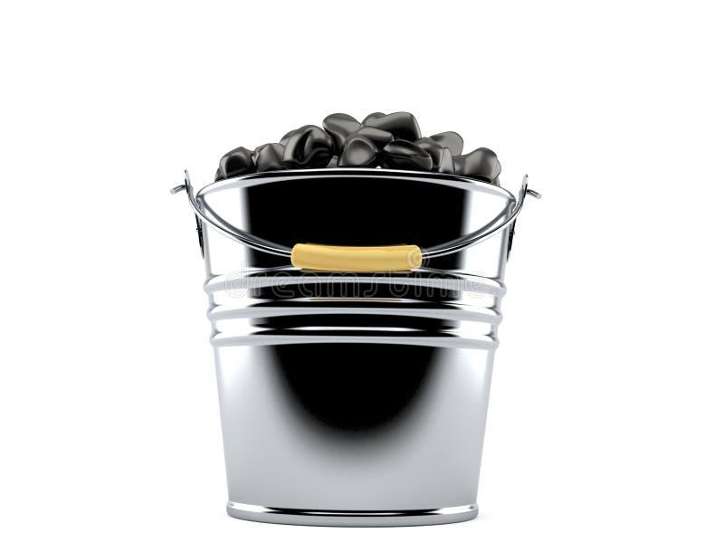Emmer steenkool royalty-vrije illustratie
