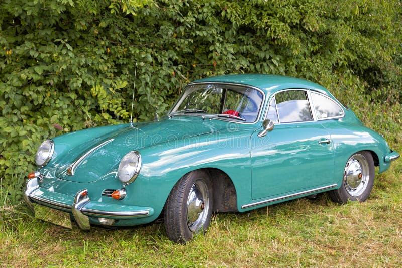 Emmering Tyskland, 19 September 2015: Porsche tappningbil arkivfoto