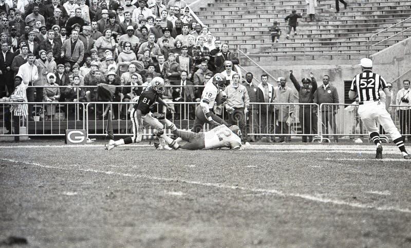 Emmitt Thomas #18 och Johnny Robinson #42, Kansas City Chiefs arkivfoto