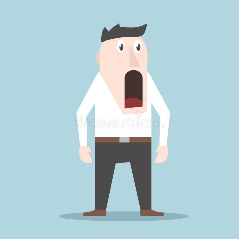 A emoção da surpresa e do prazer em um homem na cara, ilustração conservada em estoque do vetor ilustração do vetor