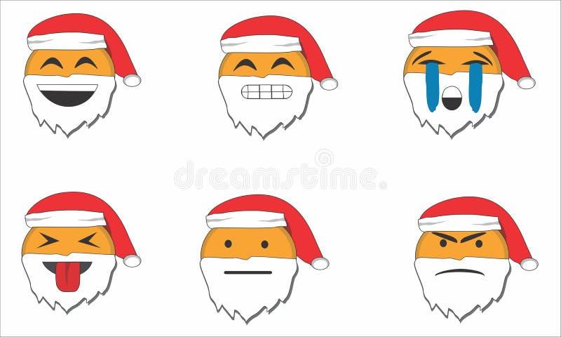 Emoção de Santa foto de stock royalty free