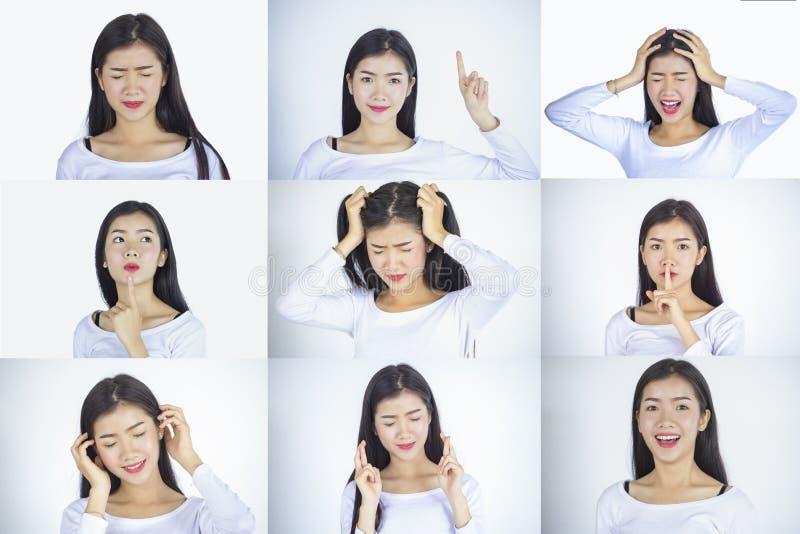 Emoções ajustadas fotografia de stock
