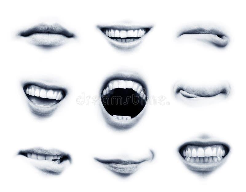 Emoções da boca imagem de stock