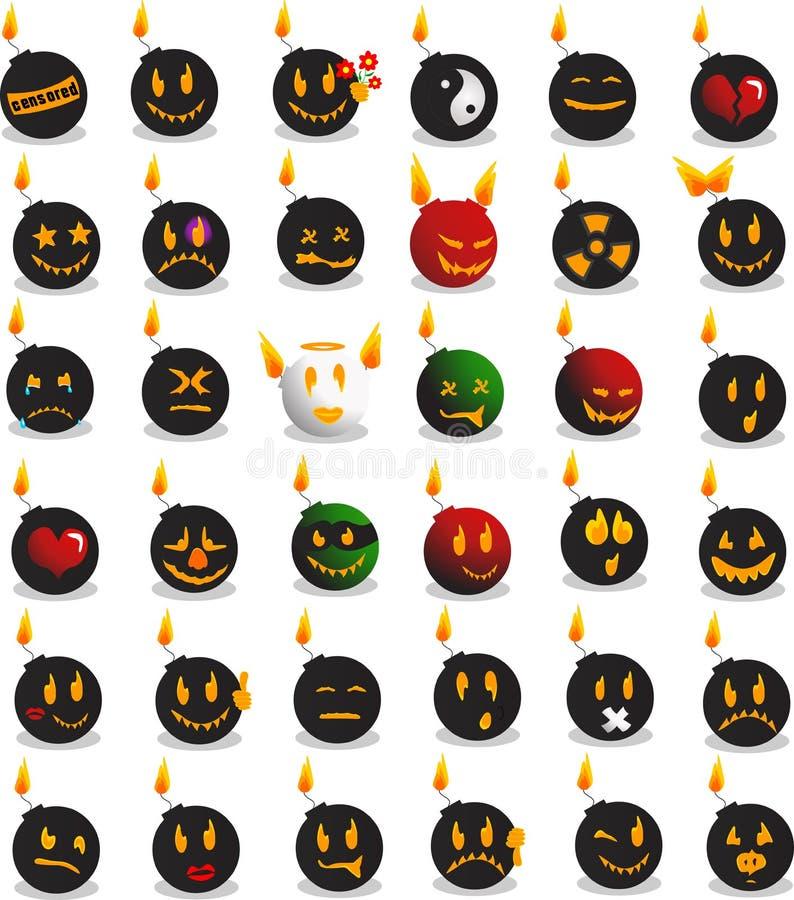Emoções da bomba ilustração do vetor