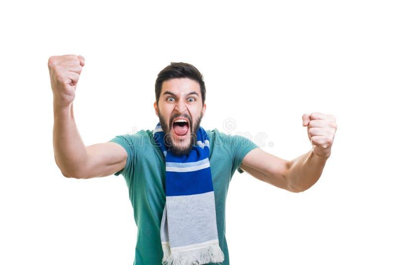 Emoções do fan de futebol fotos de stock