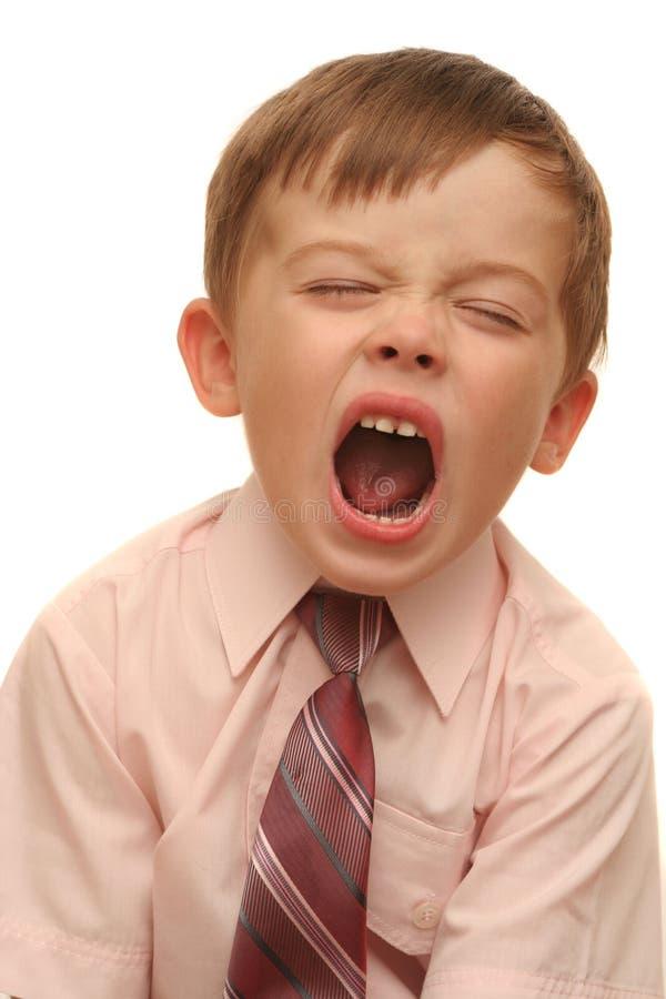 Emoções do menino fotos de stock