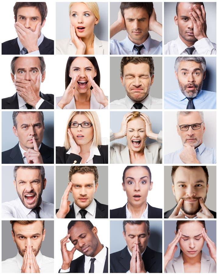 Emoções do negócio fotos de stock royalty free